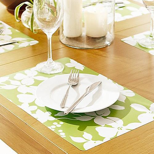 Белые цветы рисунком Таблица Мат на ужин, 4 шт за комплект, L42cm х Ш 28см Lightinthebox 321.000