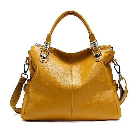 Женская Элегантный Сплит кожа Леди Сумочка кожаная сумочка Linning Цвет на Random Lightinthebox 3995.000
