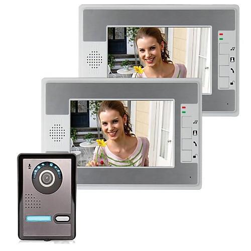 7-дюймовый видео домофон телефон домофон комплект 1-камера 2-монитор ночного видения от Lightinthebox.com INT