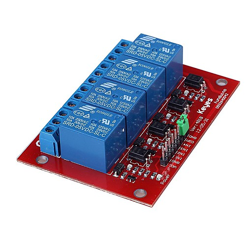 Новое и высокое качество 4-канальный релейный щит модуль для Arduino Lightinthebox 214.000