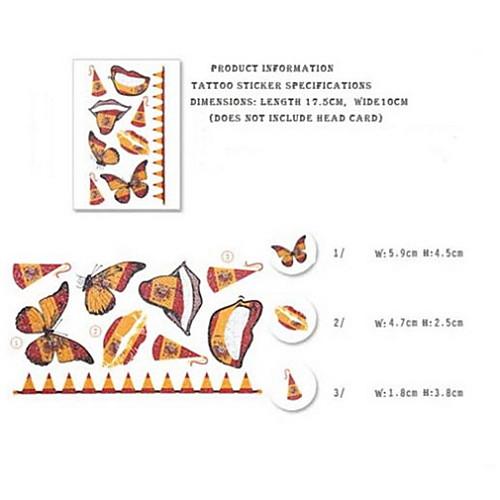 2шт Бабочки Испания Кубок мира Водонепроницаемый татуировки тела Временная Блеск Стикеры Lightinthebox 214.000
