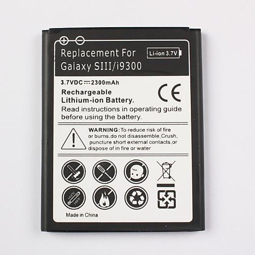 новая замена литий-ионный аккумулятор для Samsung Galaxy S3 i9300 (3,7, 2300mAh) Lightinthebox 212.000