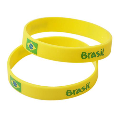 Бразилия ЧМ-2014 Желтый Силикагель Браслеты Lightinthebox 85.000