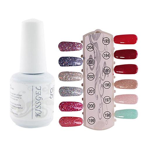 1PCS блестками УФ цветной гель лак для ногтей № 193-204 Soak-офф (15 мл, разных цветов) Lightinthebox 308.000
