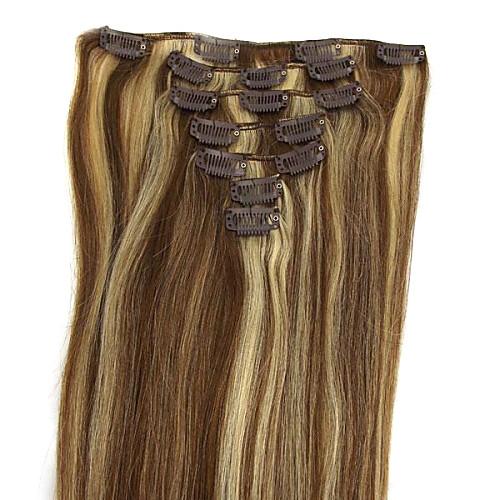 22-дюймовый 7Pcs 70g Ролик в Remy Human человеческих волос Extensiiion Прямые Несколько Цвета Q2270 Lightinthebox 3093.000