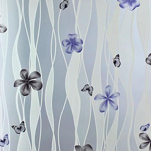 Классические Художественные Кривые и светло-фиолетовый Цветы оконная пленка Lightinthebox 1288.000