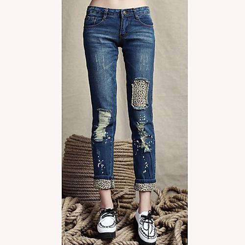 TS-Эластичный Эластичность Тонкий Cut низкой талией карандаш джинсы Lightinthebox 949.000