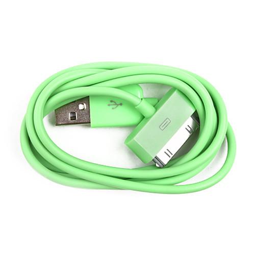 красочные синхронизации и зарядки кабель для IPad и мобильный 6 iPhone 6 плюс (зеленый, 100см длина) Lightinthebox 19.000