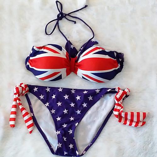 Женская мода нейлона и спандекса Англия Флаг Sexy Beach Купальники бикини Установить Lightinthebox 669.000