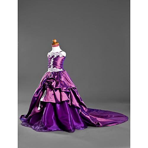 Детское пышное платье из тафты со шлейфом Lightinthebox 3750.000