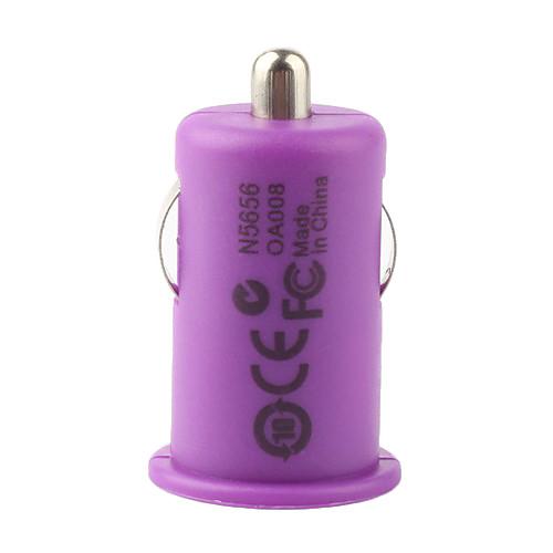 1000ma мини зарядное USB сигареты автомобиля на мобильный 6 iPhone 6 плюс / IPOD / телефонов - фиолетовый Lightinthebox 85.000