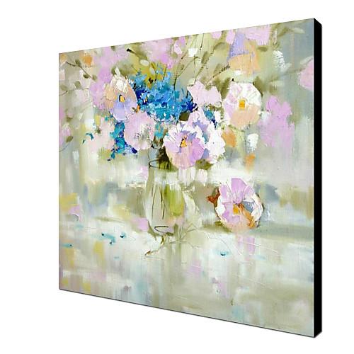 Ручная роспись маслом Натюрморт розовый цветок с растянутыми кадров Lightinthebox 4296.000