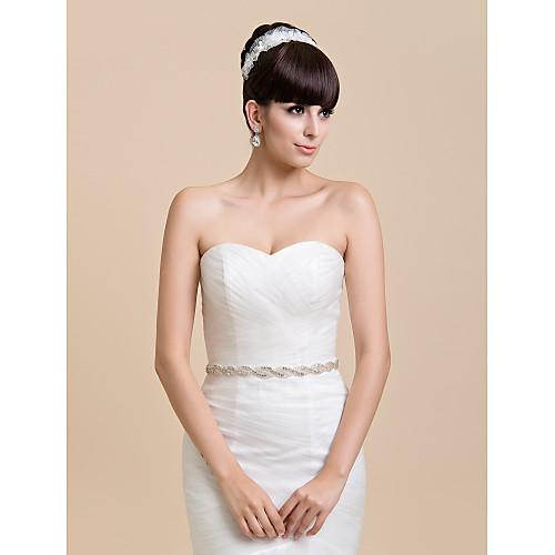 Нежный Женщины атласная Свадьба / Свадебные ленты золы S с горный хрусталь (другие цвета) Lightinthebox 1333.000
