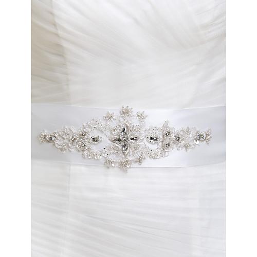 Элегантный Handmade Satin / Кружева Свадьба / Вечерние пояса с вышивкой бисером (больше цветов) Lightinthebox 837.000