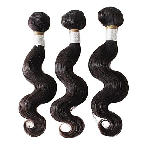 5А бразильского Виргинские Реми волос 100% Необработанные волосы сотка естественный цвет 10inches 1шт Lightinthebox 2577.000