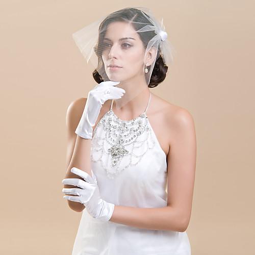 Мода атласная пальцев Длина запястья руки Свадьба / Вечерние перчатки Lightinthebox 128.000