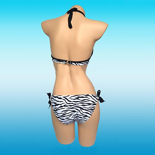 Женская мода нейлона и спандекса животных Зебра печати Sexy Beach Купальники Бразильский бикини Установить Lightinthebox 725.000