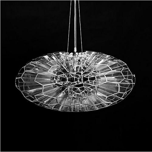 Малый размер соты Акриловая подвеска, 1 свет, прозрачный акриловый Утюг Покрытие Lightinthebox 2577.000