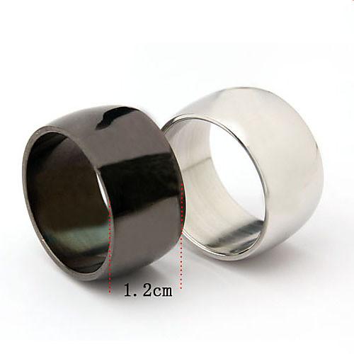 Широкое кольцо унисекс из титановой стали Lightinthebox 128.000