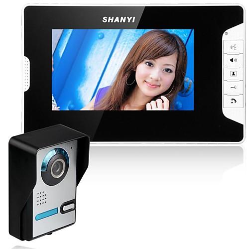 7-дюймовый видео домофон телефон домофон комплект 1-камера 1-монитор ночного видения от Lightinthebox.com INT