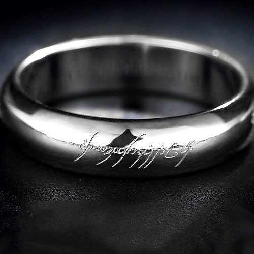 Яркое серебристое кольцо из титановой стали Lightinthebox 128.000
