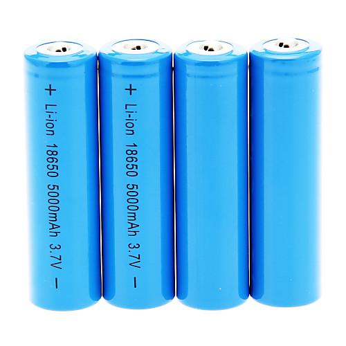 18650 Батареи Аккумуляторные батареи 5000 мАч 4шт Перезаряжаемый для Походы/туризм/спелеология