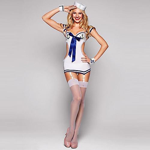 Hot Sexy Sailor Мини Равномерное Хеллоуин костюм и шляпа (4pieces) Lightinthebox 858.000