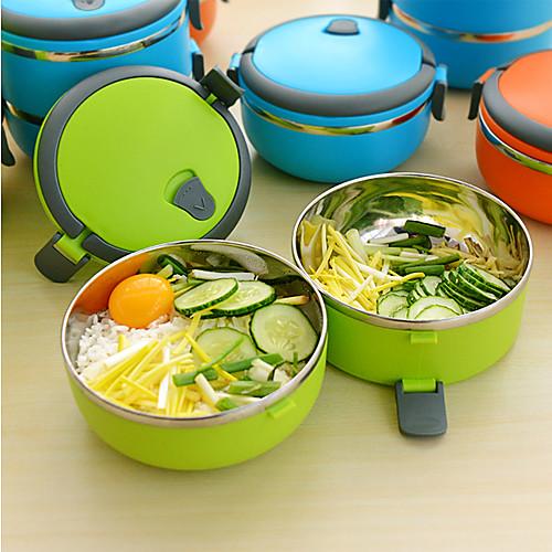 Двухслойной нержавеющей стали Дети 1.4L Lunch Box Контейнер Согреться еда для детей (случайный цвет) Lightinthebox 816.000