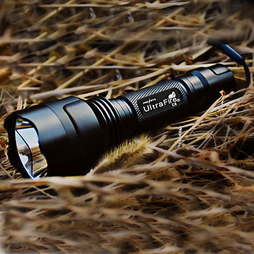 UltraFire C8 5-режимный фонарь с лампой Cree XR-E Q5 LED (1x18650, черный)