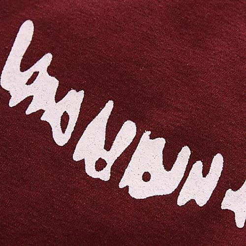 Мужской С принтом Футболка,На каждый день,Хлопок,С короткими рукавами-Черный / Зеленый / Красный / Белый / Серый от Lightinthebox INT