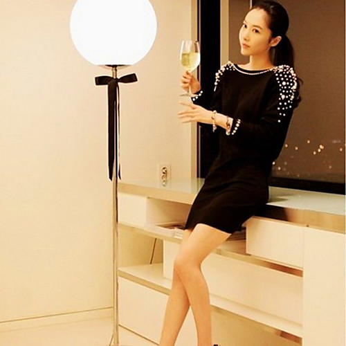 747121002089 Купить Платье-мини с глубоким вырезом на спине, украшенное жемчугом ...