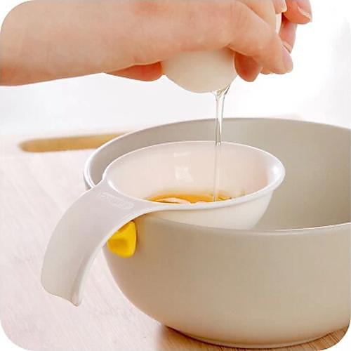 мини яичный желток белый сепаратор с силиконовым держателем яйцо сепаратор инструмент кухня