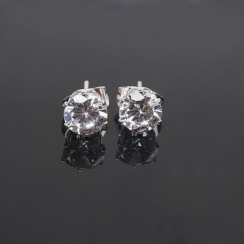 Женские серебристые серьги с кристаллом Lightinthebox 128.000
