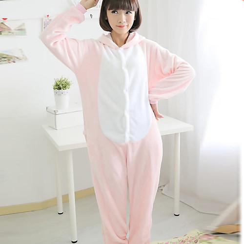 Большой Eyed Свинья розовый коралл руно взрослых Kigurumi пижамы Lightinthebox 1288.000