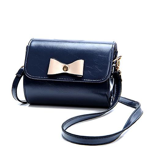 Women`s Stitching Color Cut Wallet Crossbody Bag