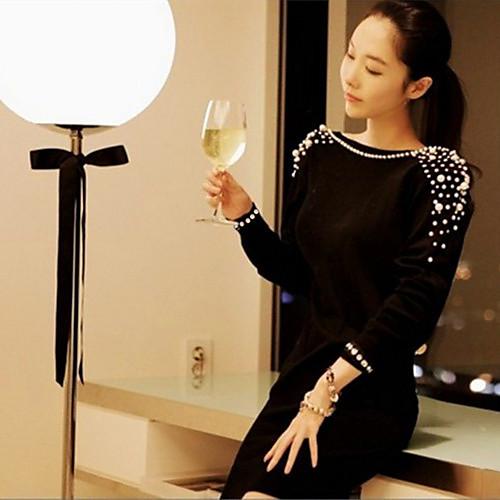Платье-мини с глубоким вырезом на спине, украшенное жемчугом Lightinthebox 730.000