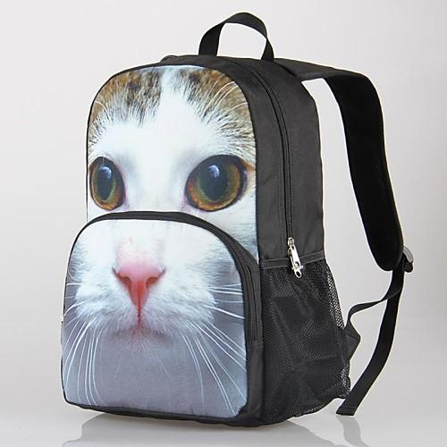 2014 новая мода животное напечатаны открытый рюкзак