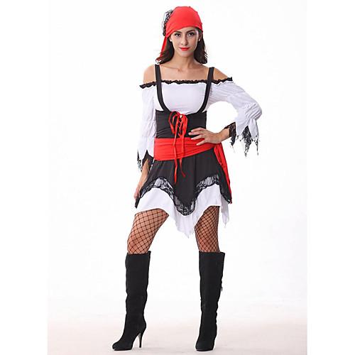 Привлекательный черный пиратский и Хэллоуин Красный Женщины платье Костюм Lightinthebox 1288.000