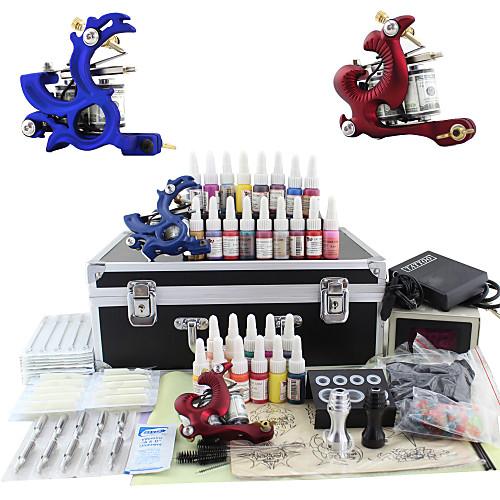 Комплект из 2 тату машинок , блока питания с LSD дисплеем и набор из 28 цветов тату чернил Lightinthebox 3093.000