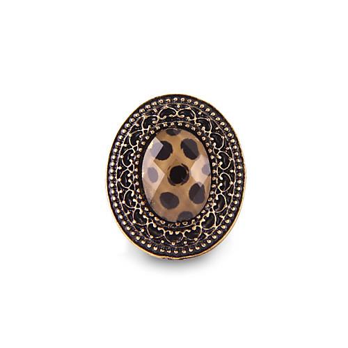 Старинные резные ограненного камня Кольцо Leopard большой лошади глаз Lightinthebox 42.000