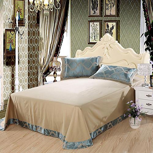 Комплект постельного белья сине-серой расцветки из 100% хлопка с жаккардовым переплетением (набор из 4 предметов) Lightinthebox 4296.000