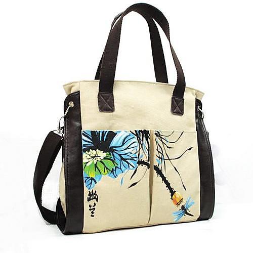 моды случайные холст ручной росписью картины сумка сумка сумки bieyangwomen в