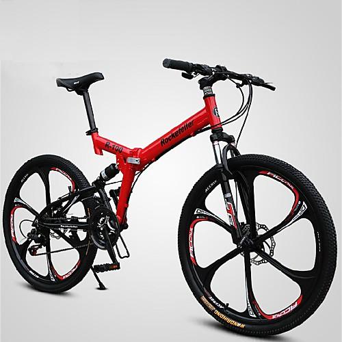Горный велосипед / Складные велосипеды Велоспорт 21 Скорость 26 дюймы / 700CC SHINING SYS Двойной дисковый тормоз Вилка Рама с полной подвеской Обычные Алюминиевый сплав / #
