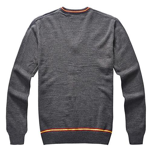 Гарри Поттер Гриффиндор Слизерин Равенкло V-образным вырезом вязаный шерстяной свитер с длинными рукавами Косплей костюмы