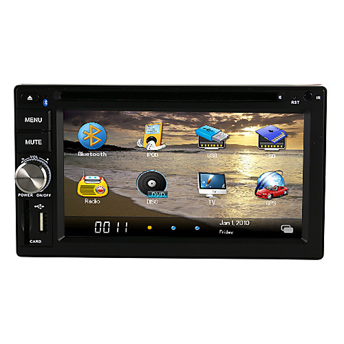 DVD-плеер для автомобиля с DVD, ATV, Bluetooth, Ipod, FM, SD/USB, SWC, моторизованный, сенсорный экран от Lightinthebox.com INT