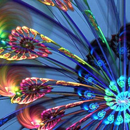 холст набор 5 колесо обозрения современной голубой натюрморт натянутым холстом печати готов повесить Lightinthebox 4081.000