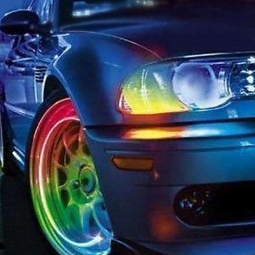 Супер яркий мигающий синий LED для освещения колеса авто (упаковка из 2) Lightinthebox 64.000
