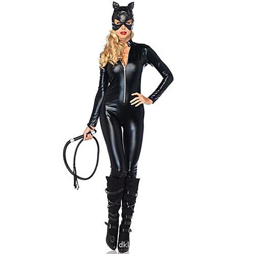 Темная ночь Бэтмен Женщина-кошка черный кожаный PU Женская Косплей Костюм Lightinthebox 1288.000