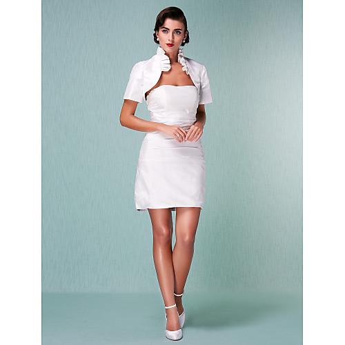 Короткое свадебное платье футляр из фаты с накидкой Lightinthebox 2921.000