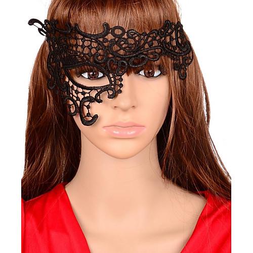 Женская винтажная маска с кружевом фото